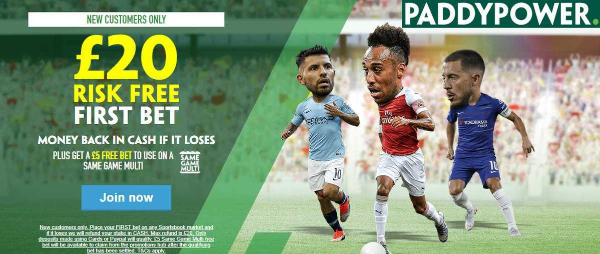 Paddy Power is one of the most distinctive consumer brands in Europe #bettingtips #Bets  ▪️Paddy's Review & Promotions⬇️ 🔹https://www.bookmakeroffers728.co.uk/paddy-power-sign-up …  ▫️New Customer Offer▫️£20 Risk-FREE Bet + FREE £5. Join Below↙️ 🔸http://media.paddypower.com/redirect.aspx?pid=11084713&bid=7054 …  18+ T&Cs Apply Retweet & Join⬆️s