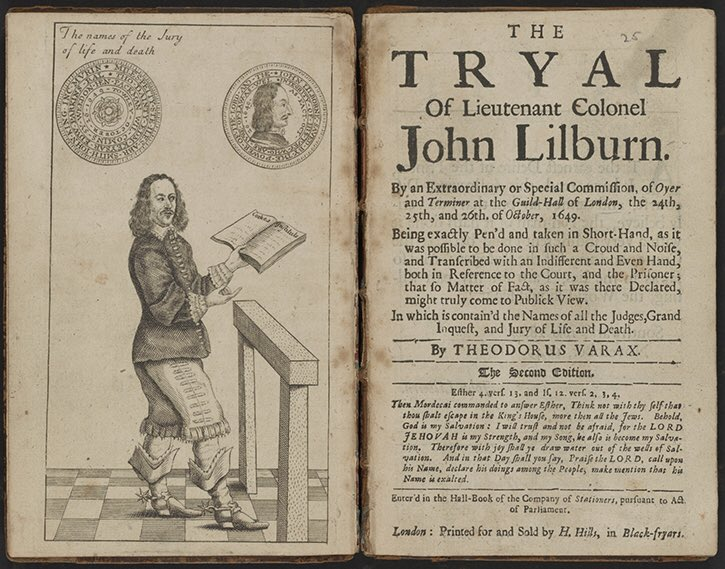 Reading Mike Braddick on John Lilburne - incredibly brave C17 English revolutionary who did so much to challenge tyranny and establish #mediafreedom at great personal cost. Inspirational.  #JournalismIsNotACrime