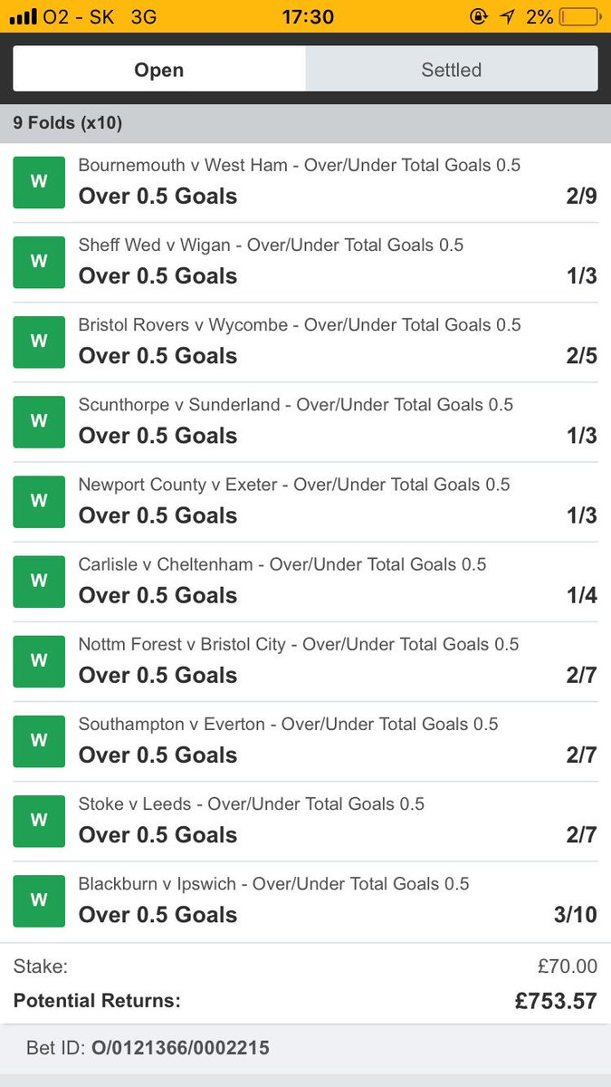 i ve been saying that for ages.. 2nd half goals rule the world 😍 and here is little prove .. #lucky #10folds #betting