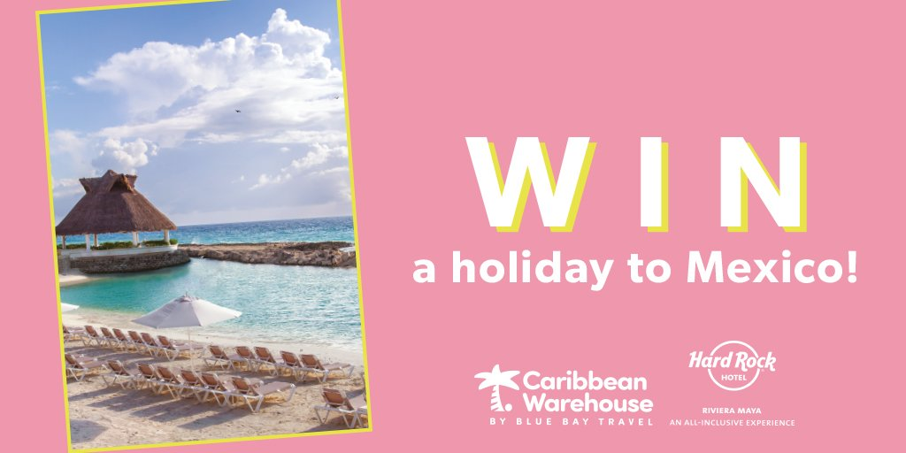 Dreaming of sun, sea and cocktails? Us too. Enter for a chance to WIN a 7-night all-inclusive holiday to @HRHRivieraMaya Mexico for you and a friend courtesy of @BlueBayTravel PLUS a new £250 wardrobe. Interested? Enter before 31/01/19! 🍹🌞  https://t.co/CXrbJqZQ05