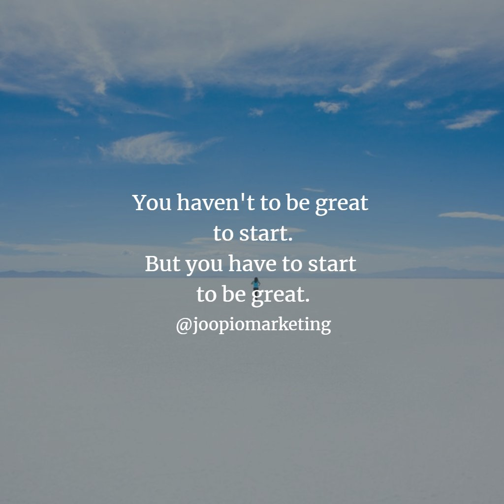 RT @iamjoopio: Before going anywhere you have to start with a first step #Motivation #NeverGiveUp https://t.co/ozh8WBQWkl