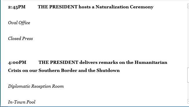 President Trump's announcement on immigration will now be at 4 pm, instead of 3 pm ET
