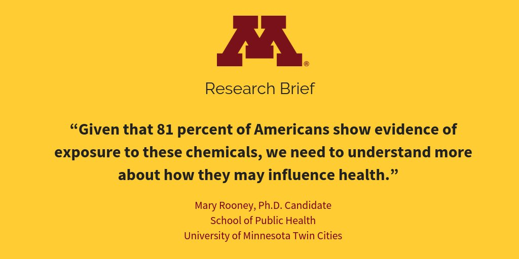 More Evidence Chemicals Linked To >> University Of Minnesota On Twitter Umnresearch A Study By