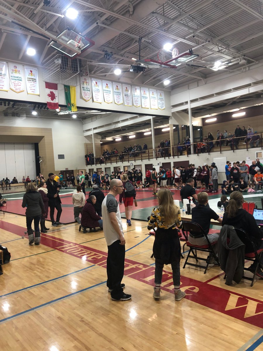 Wrestling at Warman High School and Sr Girls Basketball at the Legends all day. Another busy weekend where students are making positive memories of their high school experience.  #relationships #pssdmpsc #engaged  #SHSAA #Educationthroughsport #wrestling #Basketball #Warman #WHS