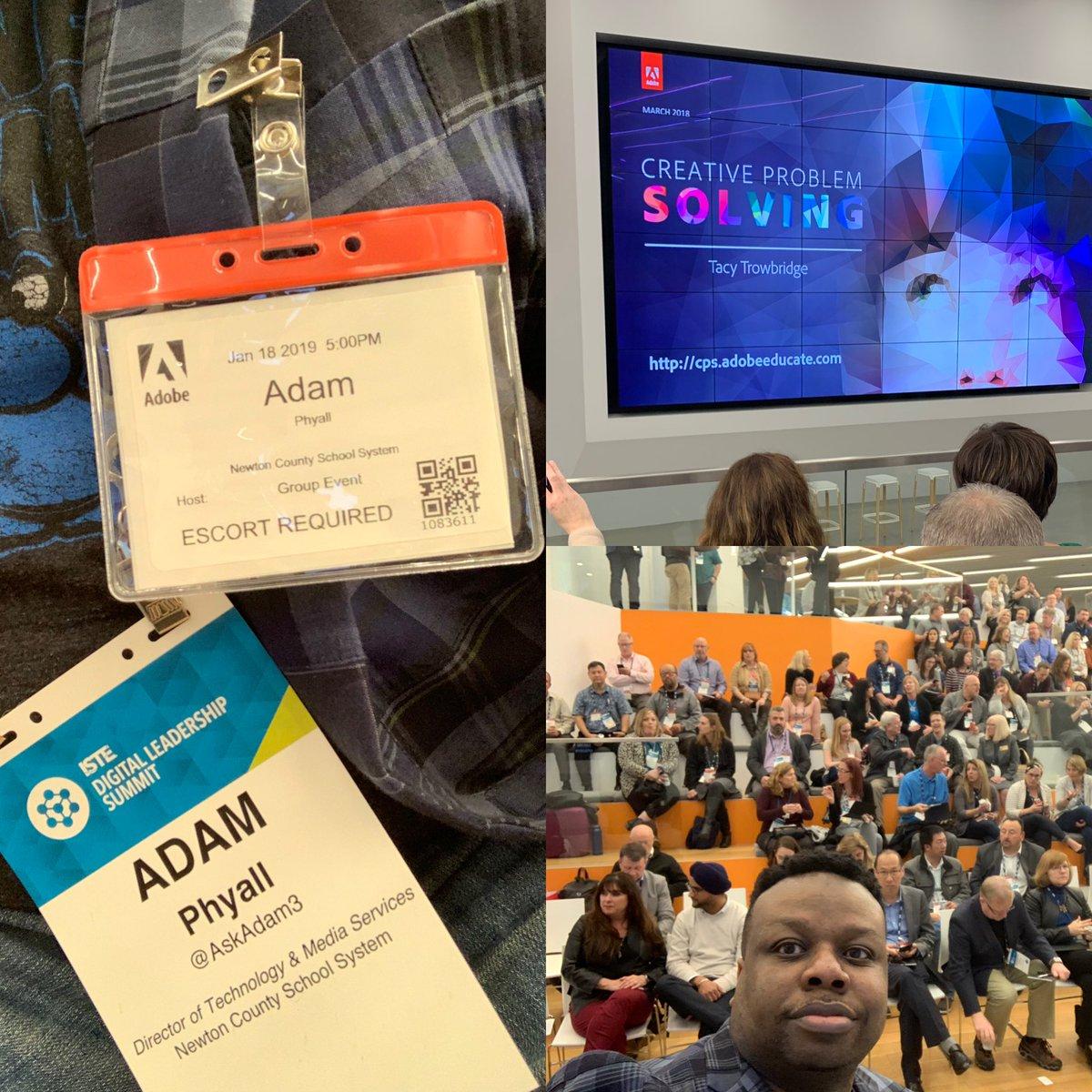 I had a great day one @iste Digital Leadership Summit #ISTEDLS @AdobeEdu @AdobeSpark