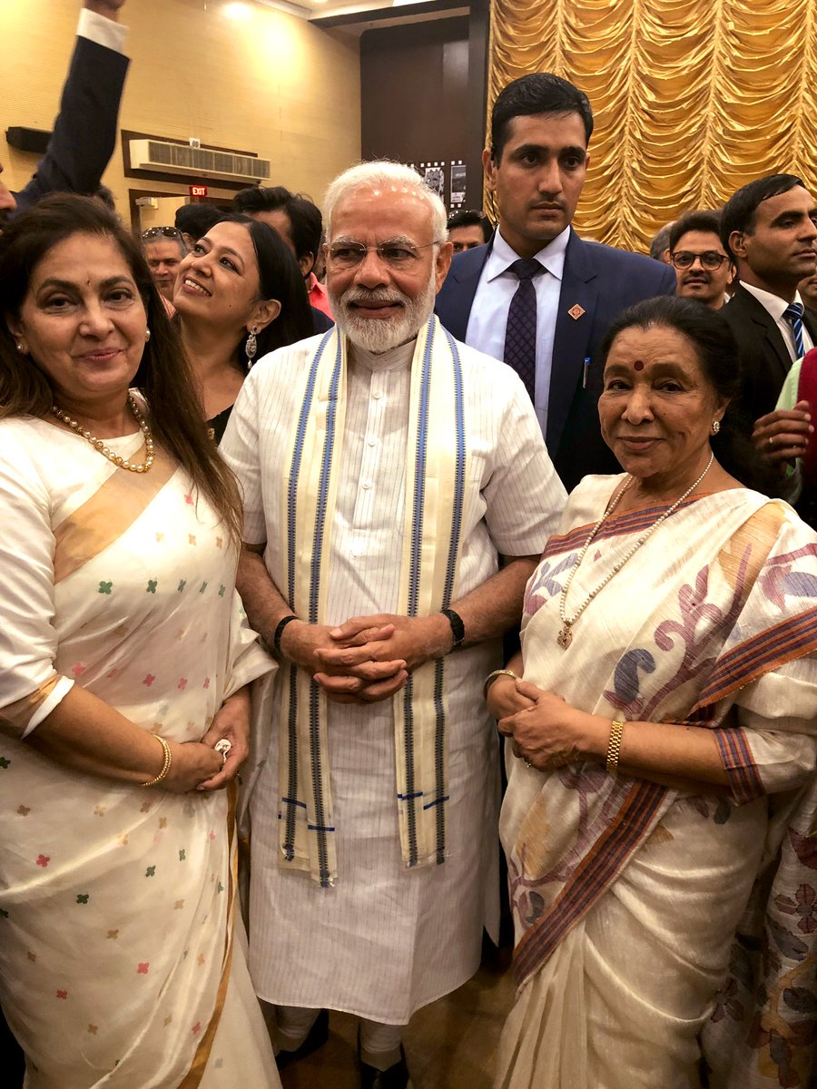 With the PM of our beloved country and the President of my house. What a beautiful function today - the inauguration of India's 1st museum of cinema spanning 100 years of Indian film making