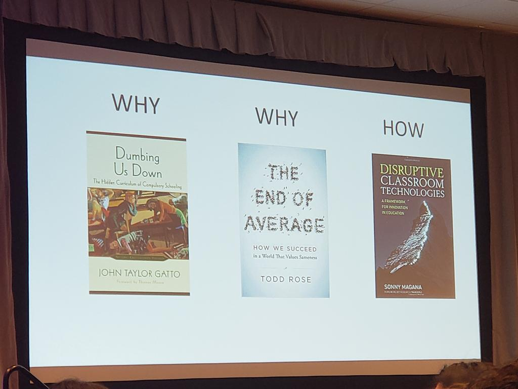 Book recommendations from @jcorippo this morning at ISTE Digital Leadership Summit #istedls #ACSA