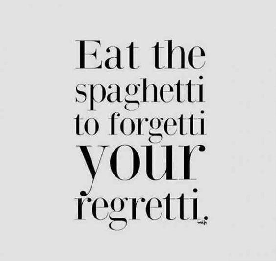 eat spaghetti to forgetti