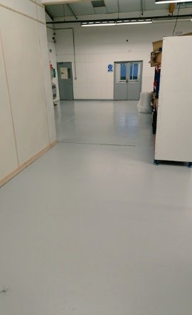 ... with a little cleaning and painting. All finished out of hours, to help keep the production going. #painters #floorpaint #factory #Commercial ...