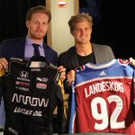 Just a couple of Swedes swapping jerseys!  #ArrowDriven #GoAvsGo