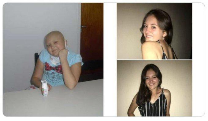 Camila Rivadavia, la adolescente que mostró en el #10YearChallenge cómo superó el cáncer ► Photo