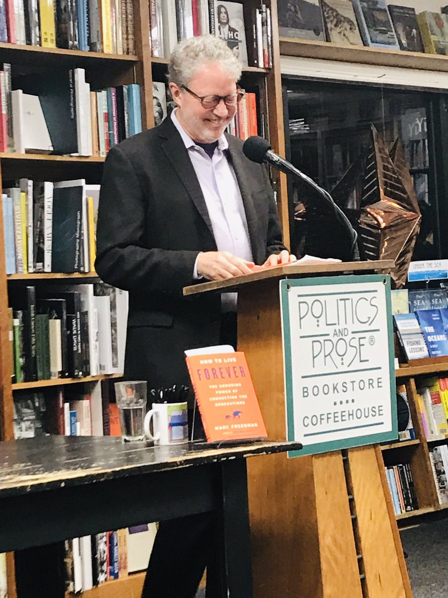 """@Aging2DC @PoliticsProse this winter evening - listening to @marc_freedman """"How to Live Forever"""" Connecting the Generations #intergenerational #fostergrandparent . With @saunderp @ilyseVeron @TinaSandri @Jenniferpelleg"""