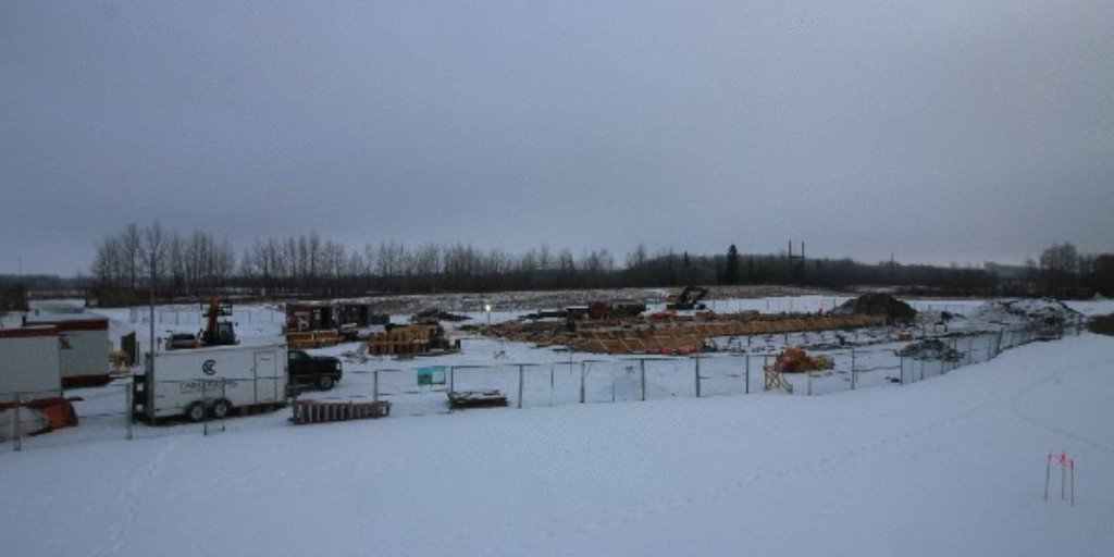 You can't see much because of the snow, but we're making progress on the Métis Crossing Cultural Gathering Centre. The foundations are in! Construction is scheduled to finish late this year (2019). Follow us or like https://www.facebook.com/metiscrossing/ for more info. #abmetisproud