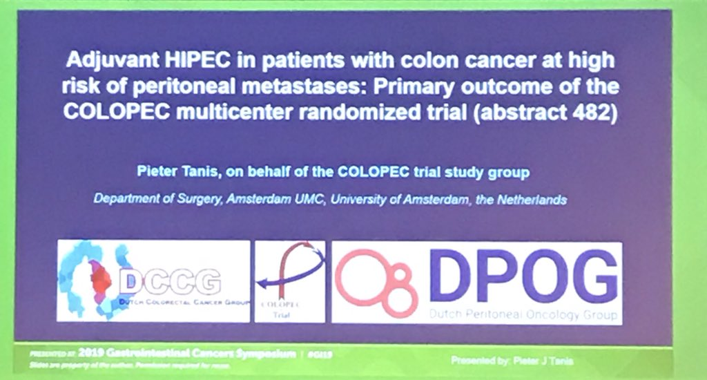 Tarik Sammour On Twitter How About We Stop Offering Hipec For Colorectal Cancer Seems The Only Reasonable Approach For An Intervention That S Ineffective And Quite Toxic Atleast Until Adbeggs Sahmriau Or Viccompcancercr