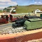 Image for the Tweet beginning: A few locos sitting at