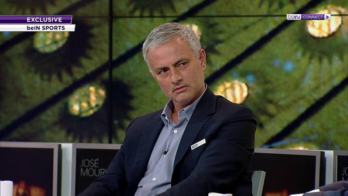 "Mourinho: ""My philosophy depends. I'd love to go to a club and be in conditions to do what Jurgen and Pep did. When Jurgen is in the club and wins absolutely nothing for three and a half years, still has the trust, confidence to keep going."" 😳[beIN]"