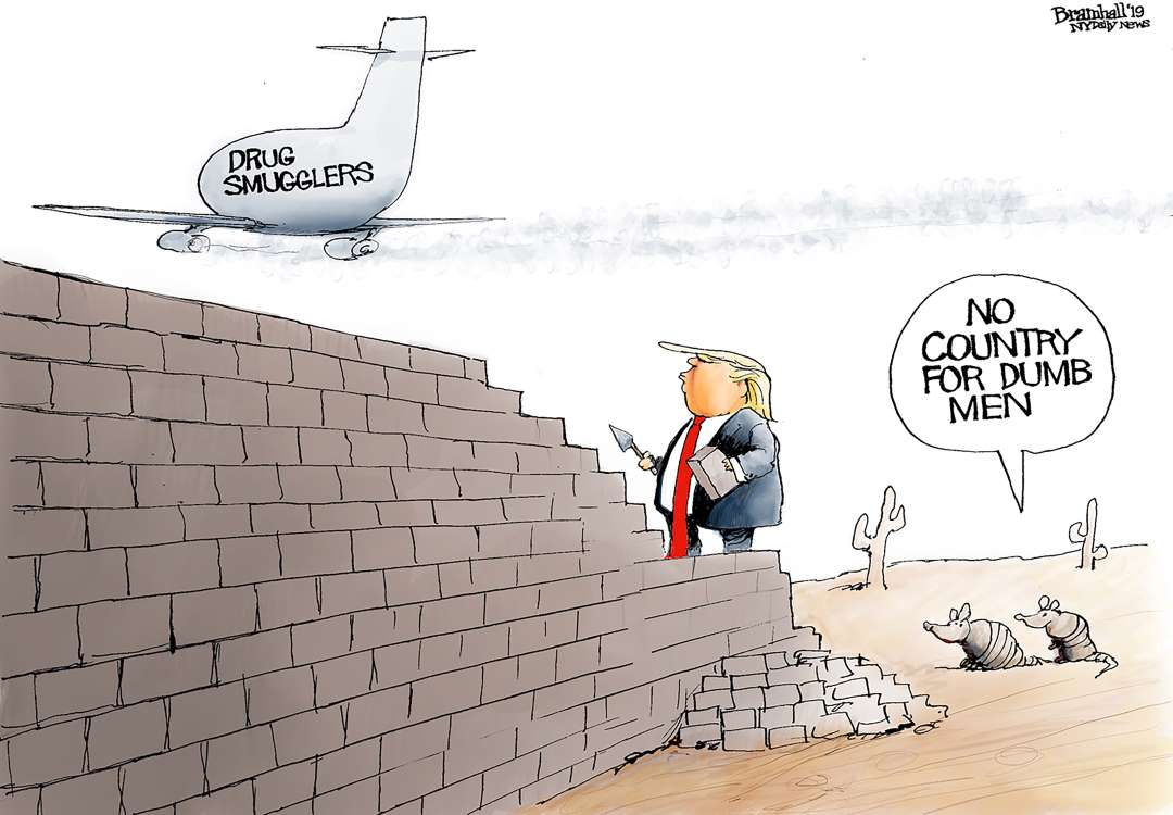 As 45 SAYS wall's  work #RIGHT !!! 🙊🙉🙈😂😂😂