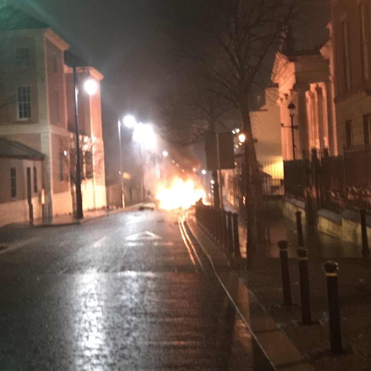 Four men arrested over Londonderry vehicle blast in Northern Ireland