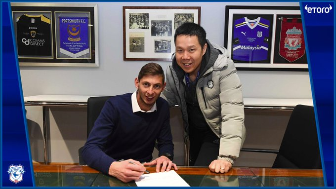 OFFICIAL: Cardiff City have signed Emiliano Sala from Nantes for an undisclosed club record fee. He signed a three-and-a-half year contract. Photo