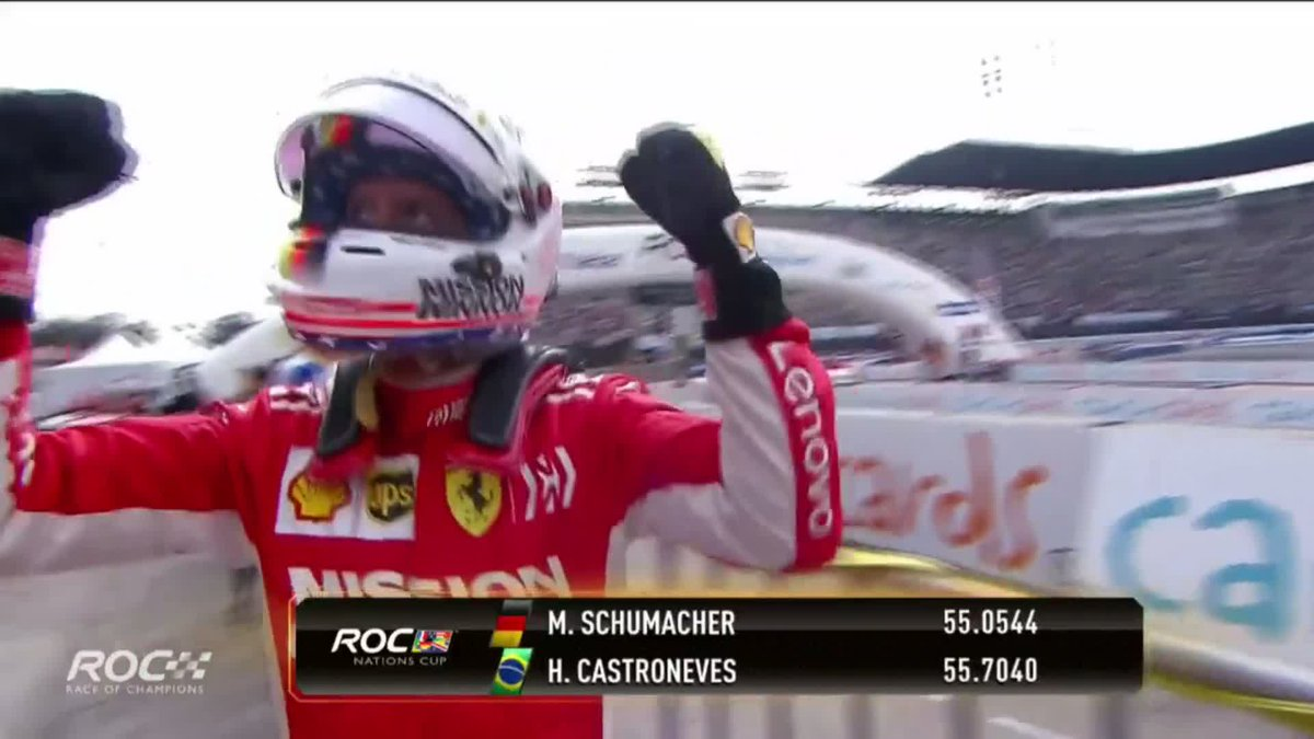 ✅ Announced as @insideFDA driver ✅ Wins race with his sister Gina by his side ✅ Books Team Germany's place in ROC Nations final  A stunning day for @SchumacherMick! 🙌  #F1 #ROCMexico