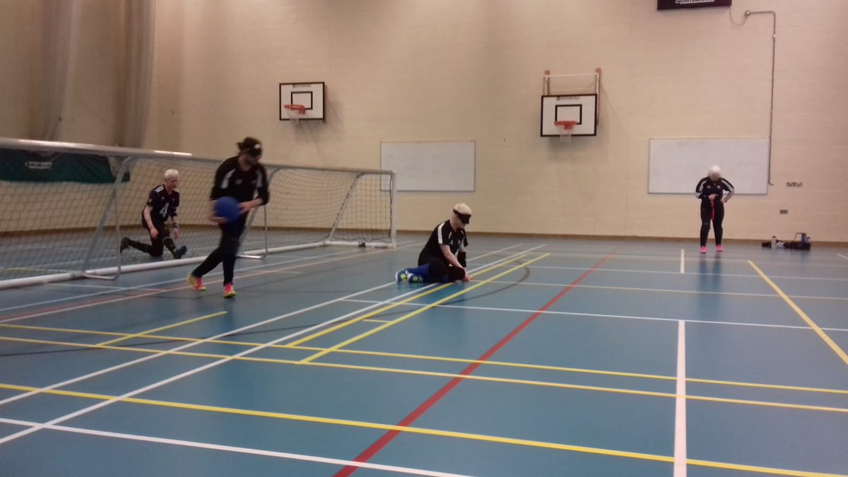 8b739e8d98799 Goalball players on court at Winchester Goalball Club s training session