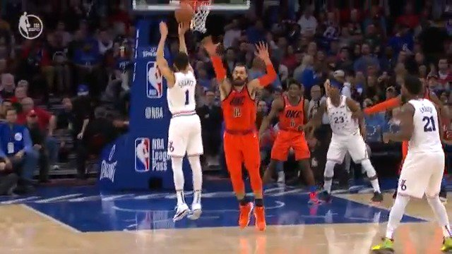 Make it a perfect 3-3 from downtown for Landry Shamet! #NBARooks  #HereTheyCome 41 #ThunderUp 44  WATCH on #NBAonABC