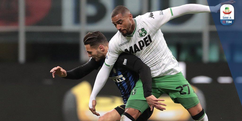 Finisce in parità la sfida tra Inter e Sassuolo!  Inter 0️⃣ - 0️⃣ Sassuolo  #InterSassuolo #SerieATIM