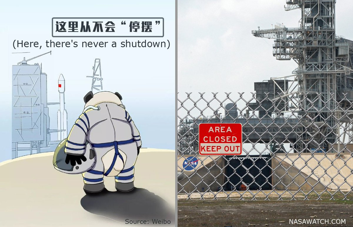 Some countries think that their space program is important. #NASA @NASA #governmentshutdown #shutdown
