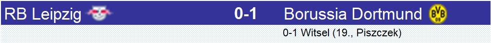 Le match au sommet a tenu ses promesses. #Dortmund l'emporte à #RBLeipzig avec un but de #Witsel en 1ère mi-temps. Dortmund a gardé son avantage avec un excellent #Bürki. 1ère défaite à domicile pour RB Leipzig et Dortmund garde le #Bayern à distance #RBLBVB