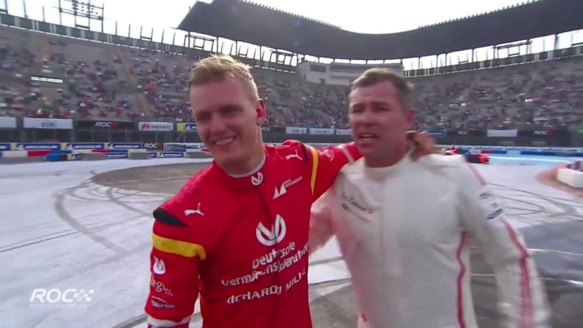 So close! Team Nordic edge @SchumacherMick and Sebastian Vettel in the ROC Cup of Nations final 💪  #F1 #ROCMexico