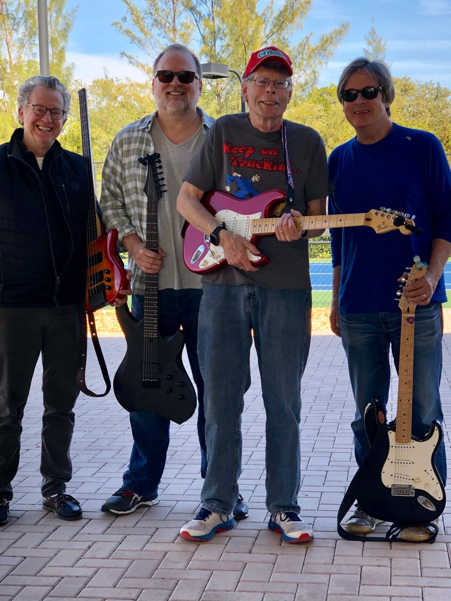 Gettin' the band back together. Left to right: Ridley Pearson, Greg Iles, me, and Dave Barry.