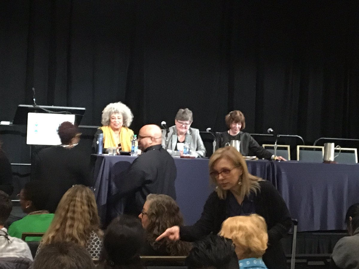 Getting ready to hear wisdom from THE Dr. Angela Davis at #SSWR2019