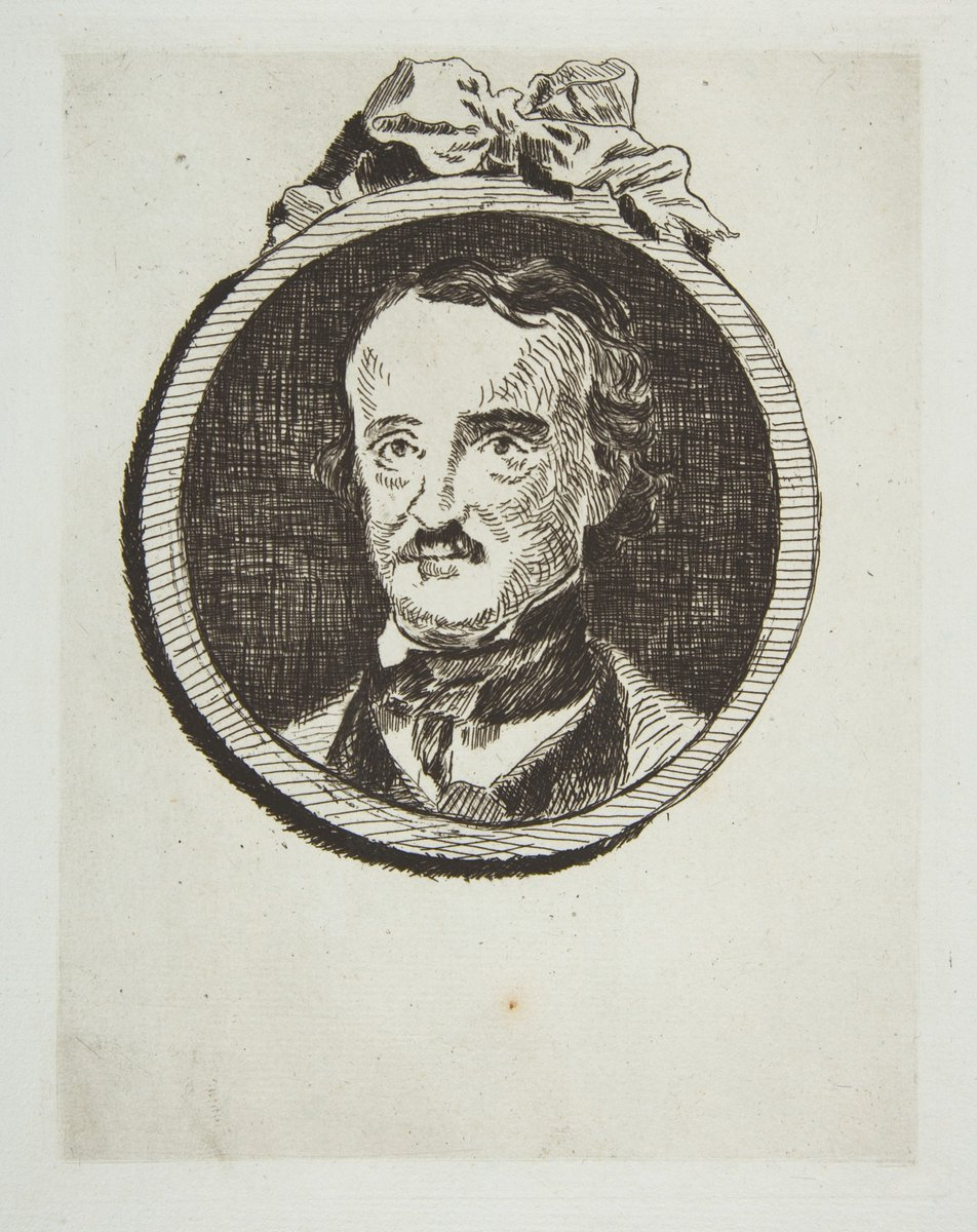 This etching by Édouard Manet depicts the American writer Edgar Allen Poe, born on this day in 1809. https://t.co/DlWzkWNpAo