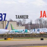 A look at today's Boeing Flightline... from north to south. Missing a few, Aerologic 777F was en route, Aeroflot 777 is in paint (PDX)... lots of tankers ☺️