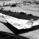 The XB-70 didn't like being painted. Apparently flexing and thermals were major issues for the high-speed bomber prototype's paint. Eventually, a very thin and finely applied coat of specific white paint had more staying power. Hat tip to @AncientSubHunt for pointing this out!