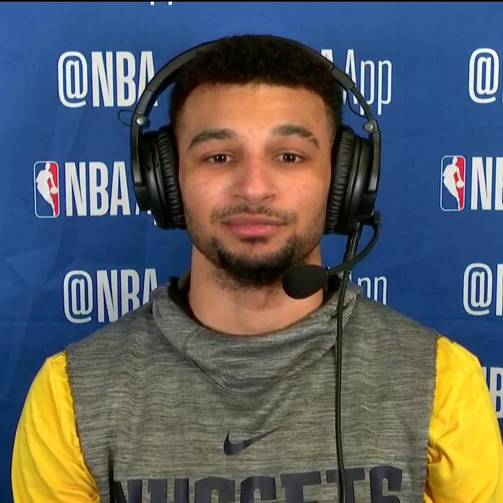 """""""We know it's not gonna be easy.""""  Jamal Murray joins #GameTime to talk the @nuggets' mindset as they try and keep pace in the Western Conference"""