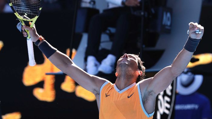 Nadal sweeps into Australian Open quarters, next meets US young gun Tiafoe: https://t.co/VL3eJMBsox #AusOpen (Pic:AP)