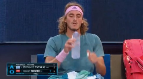 Less eventful service game for #Tsitsipas after that chaotic start. Settling into this now. The Greek holds for 2-1.  Watch & bet live >>     18+  Nhttps://t.co/F24JoLOx7aew Customers Only      T&Cs Ahttps://t.co/CuZrBszzZ1pply