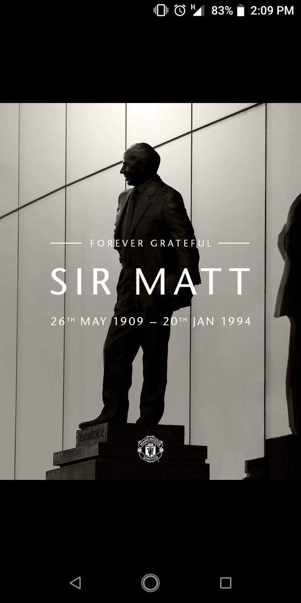 Sir MATT  #ILOVEUNITED_PU  @ManUtd