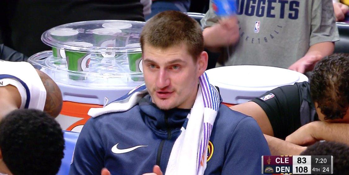 Jokic Flirting from the Bench