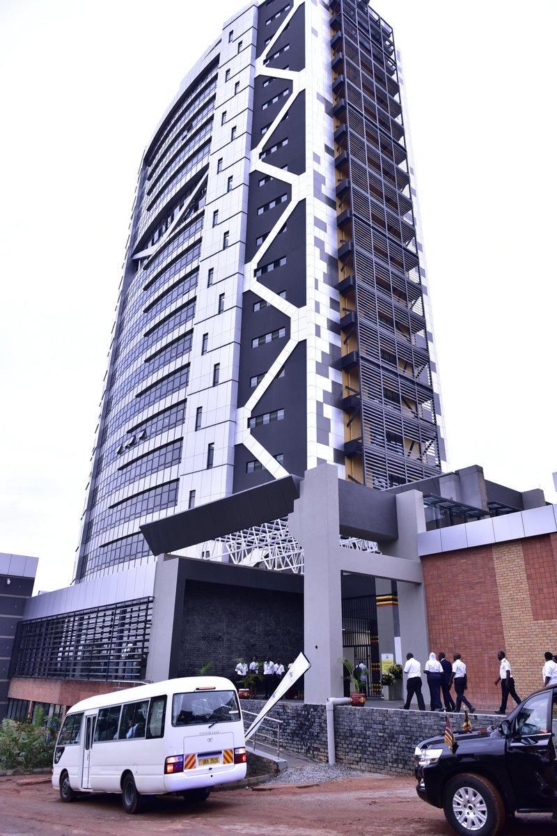This 22-storeyed building is a truly Ugandan project. It was fully financed by the government, constructed by a Ugandan firm and is furnished by a Ugandan-owned furniture mart. @URA_CG