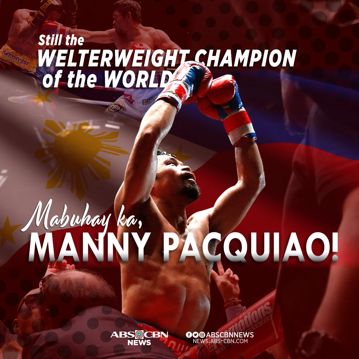 OLD BUT GOLD. The welterweight belt stays with Manny 'Pacman' Pacquiao as he beats Adrien Broner convincingly in Las Vegas. #PacquiaoBroner