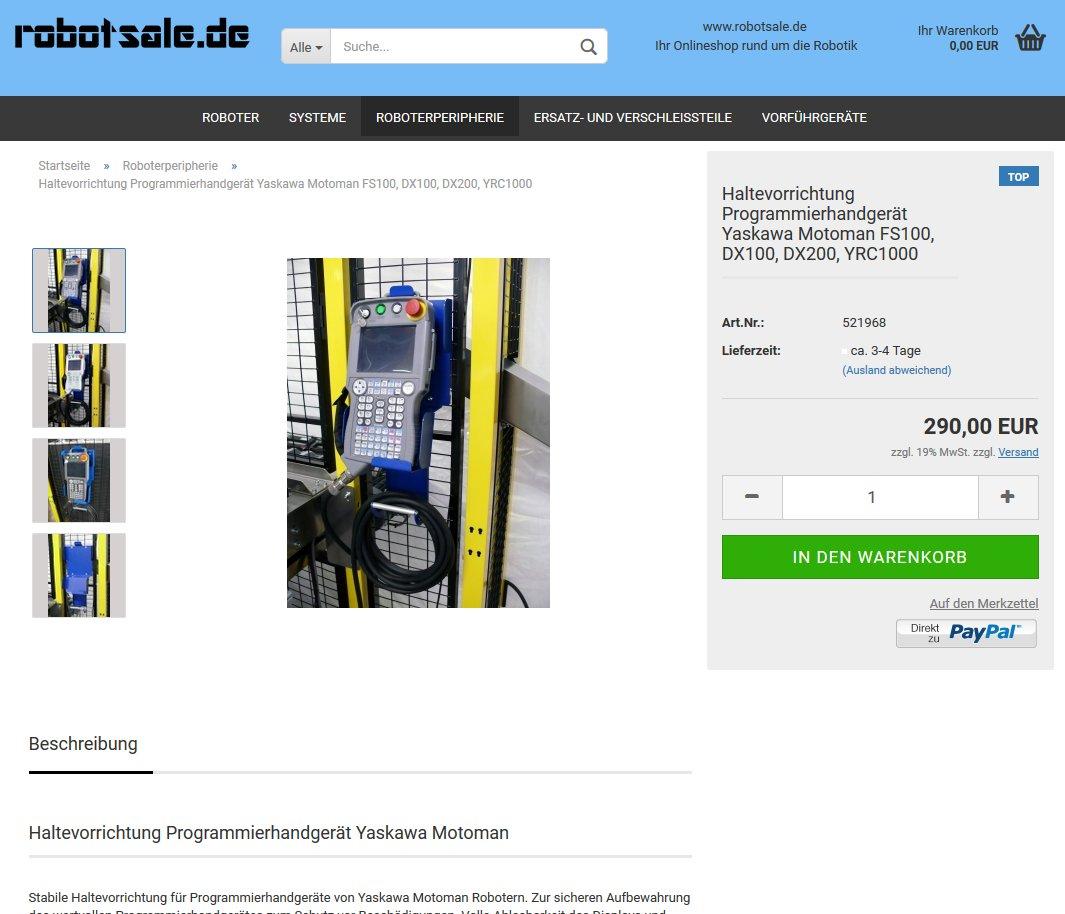 #Haltevorrichtung #Programmierhandgerät #Yaskawa #FS100, #DX100, #DX200, #YRC1000 290€ zzgl. MwSt im #Onlineshop: https://www.robotsale.de/product_info.php?info=p16_haltevorrichtung-programmierhandgeraet-yaskawa-motoman-fs100--dx100--dx200--yrc1000.html… @robotsale_de