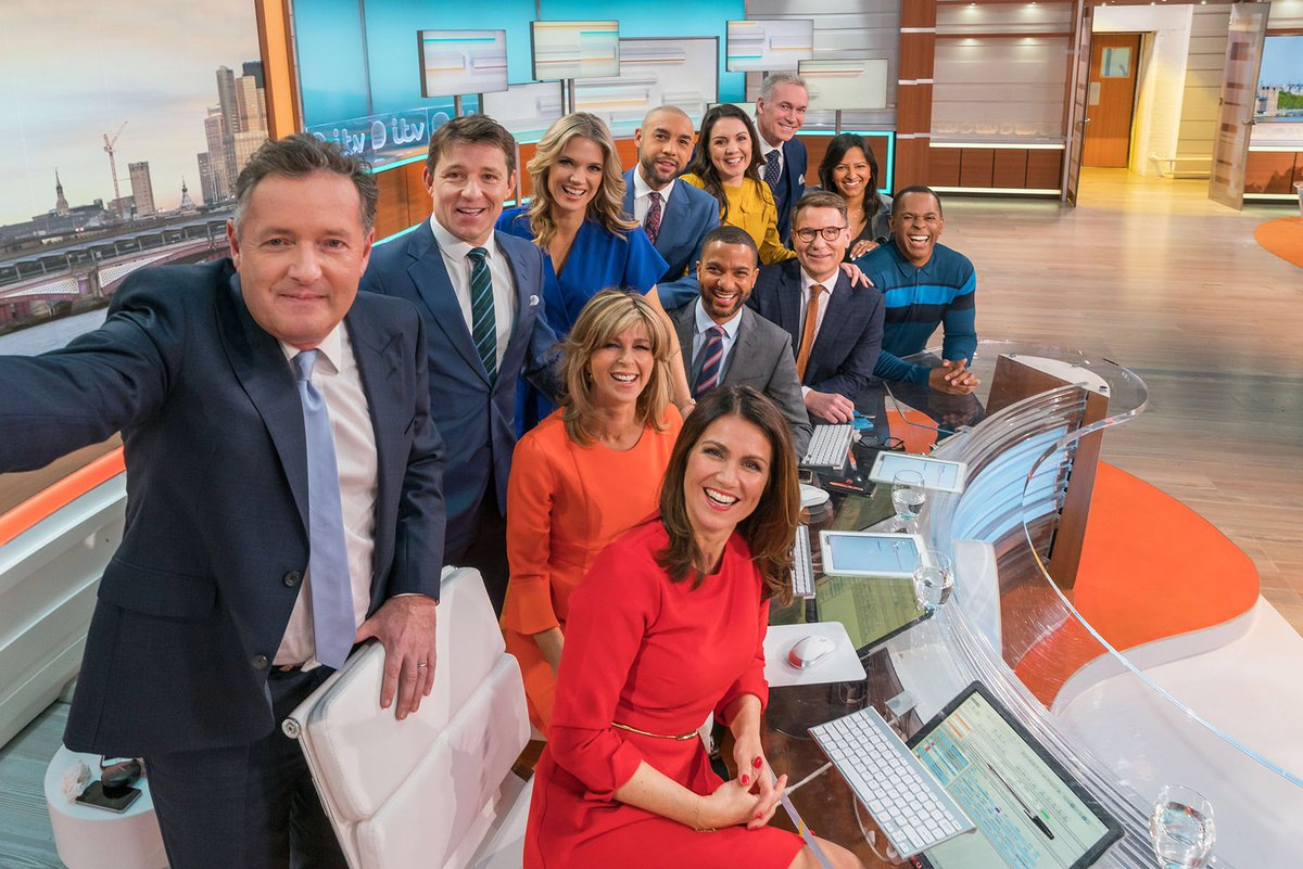 Morning! It's not often the whole team gets together... here's our @GMB selfie for a very good reason - please vote to help us win our very first National Television Award!! https://t.co/1uEC58AnR6 🤞@OfficialNTAs