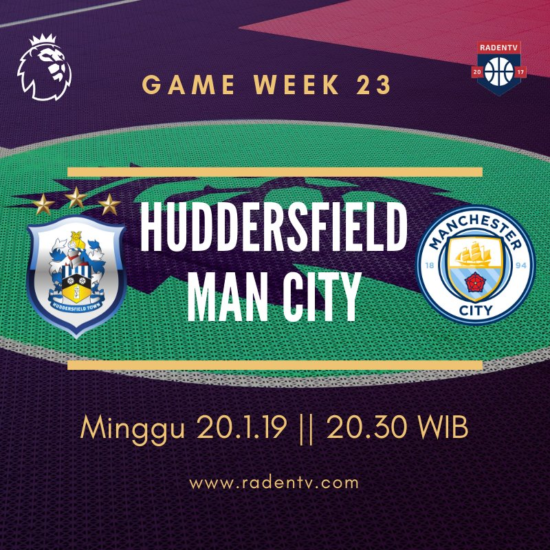 🏆 Liga Inggris 🆚 Huddersfield vs Man City 📆 Minggu 20.1.19 ⏲ 20.30 WIB 📱 https://bit.ly/2MlAmDI #HUDMCI