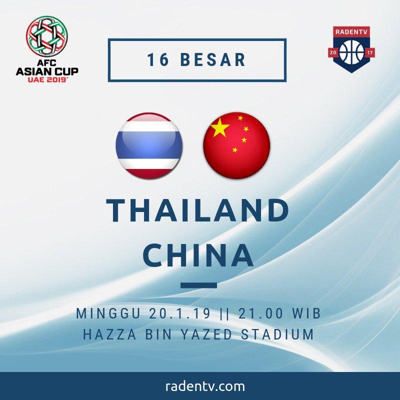 🏆 Piala Asia 2019 🆚 Thailand vs China 📆 Minggu 20.1.19 ⏲ 21.00 WIB 📱 https://bit.ly/2RSToGM #ThailandChina #AFCAsianCup2019