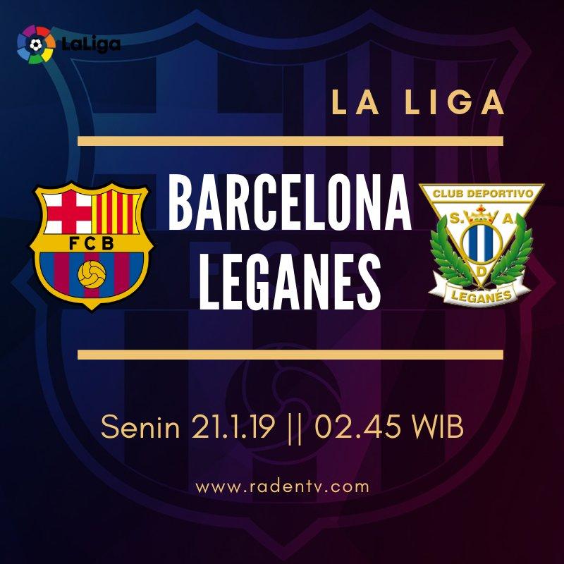 🏆 Liga Spanyol 🆚 Barcelona vs Leganes 📆 Senin 21.1.19 ⏲ 02.45 WIB 📱 https://bit.ly/2T6DExk #BarcaLeganes
