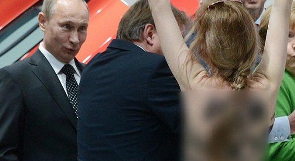 RT @Sei882: ウクライナの女性団体のメンバーが上半身裸でプーチンに直接抗議した時のいつもは厳しそうな顔してるプーチン大統領のこの表情ほんとすこ https://t.co/GwMLImDYlJ