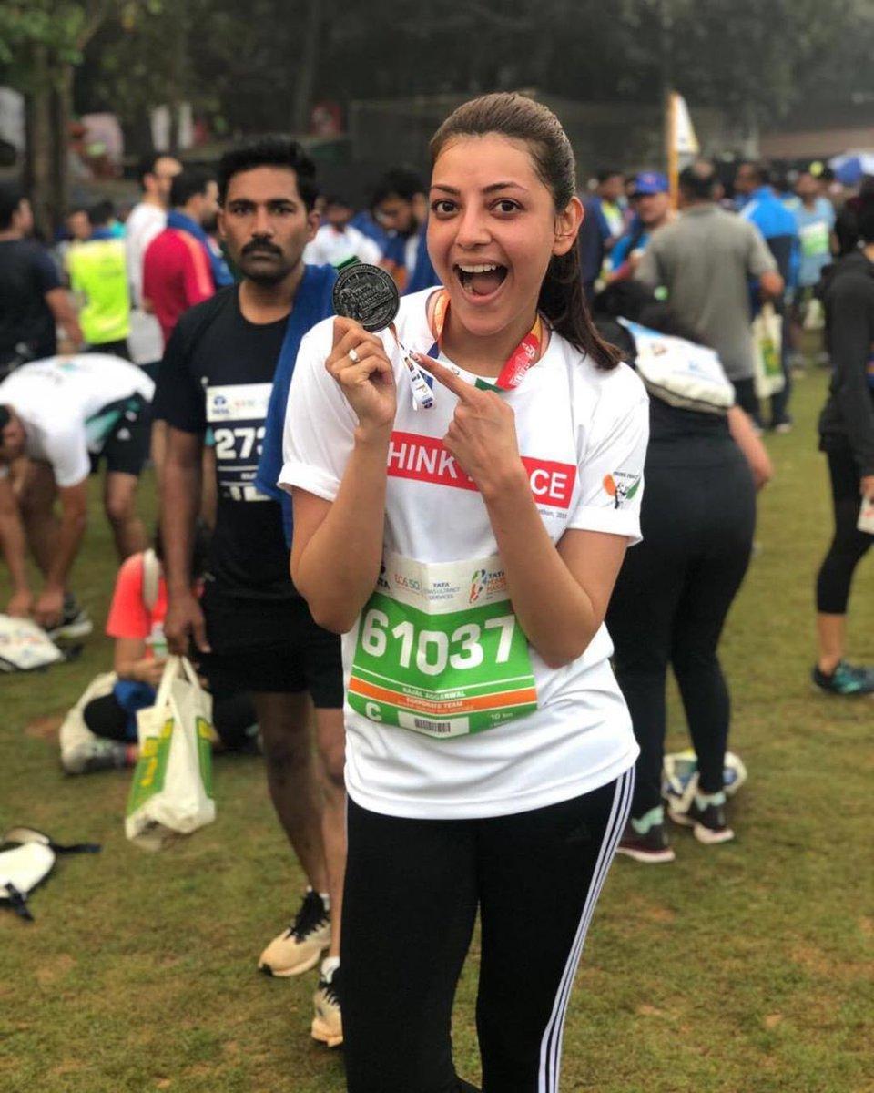 kajal-mumbai-marathon