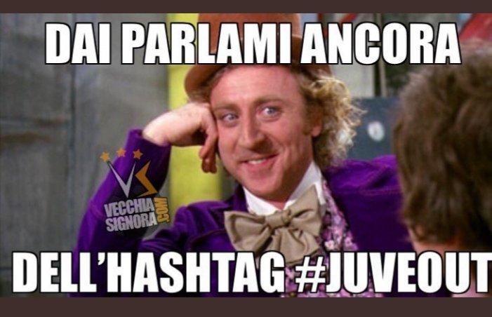 Dedicato a chi ha creato l' hastag #JuveOut 😂e a tutti quelli che ieri hanno sprecato il loro tempo a twittare.. #juvein #finoallafine #forzajuve